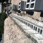 On-site retaining wall construction